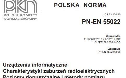 Ocena zgodności według normy PN-EN 55022:2011