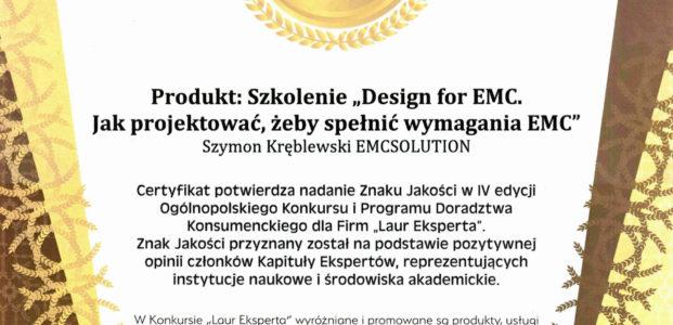 Kolejny Laur Eksperta dla Design for EMC