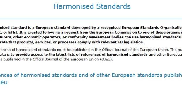Aktualne normy zharmonizowane z dyrektywami